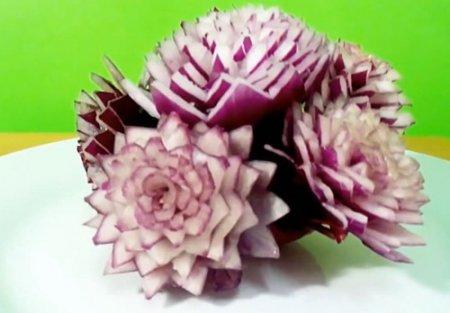 Урок карвинга: цветок из лука (2013)