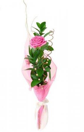 Как сделать красивый букет из одной розы (2011)