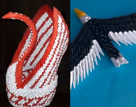 Как сделать модульное оригами лебедь и орел (2014)