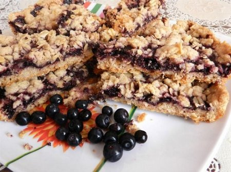 Печенье с черникой-Черничные квадратики (2015)