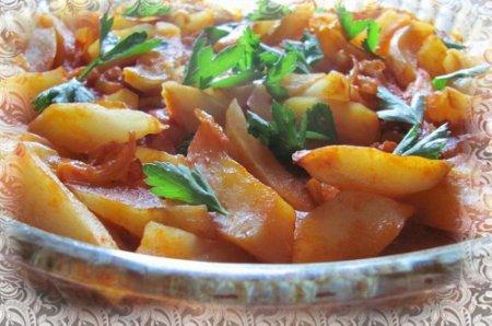 Тушеная картошка с тыквой (2015)