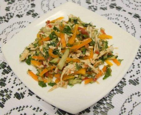Салат с копчёной курицей (2015)
