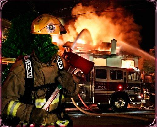Шаблон фотошоп шаблон мужской - Пожарник