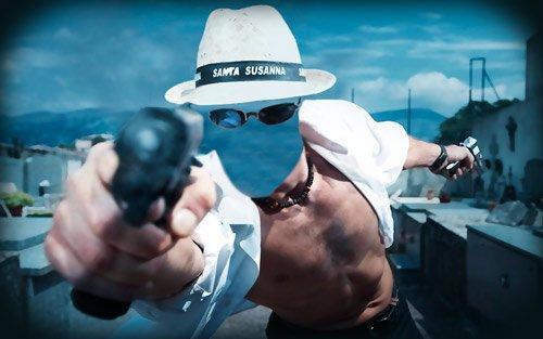 Шаблон для монтажа - Парень и его пистолеты