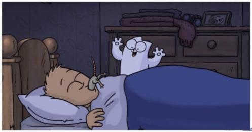Серия мультфильма про кота Саймона впервые вышла в цвете