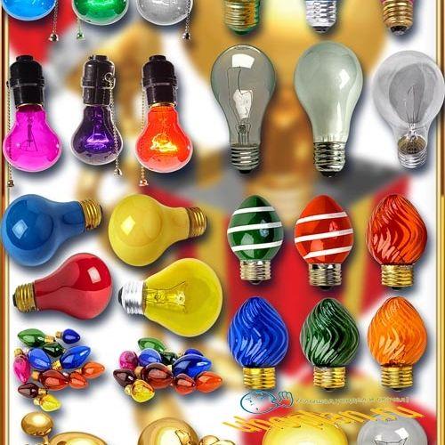 Клип-арты для фотошопа - Лампочки