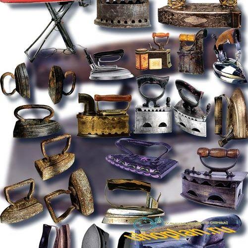 Растровые клипарты - Старинные утюги