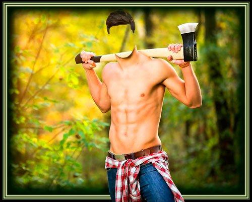 Многослойный шаблон для монтажа - За дровами в лес