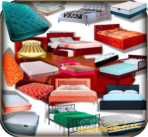 Клип-арты для фотошопа на прозрачном фоне - Кровати и матрасы